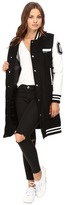 Members Only Long Varsity Wool with PU Sleeves