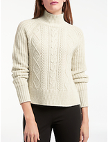 Somerset by Alice Temperley Chunky Cable Jumper, Natural
