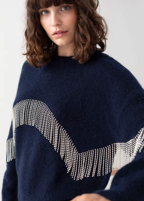 And other stories Diamante Fringe Sweater