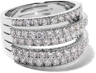 De Beers 18kt white gold Five Line diamond ring
