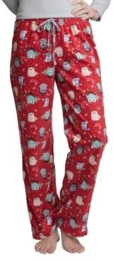 Muk Luks Women's Printed Fleece Pajama Pants