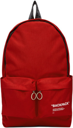 Off-White Off White Red Quote Backpack