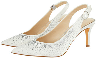 Under Armour Hellie Diamante Bridal Slingback Courts Ivory