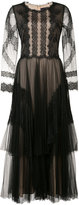 Marchesa lace embroidered dress - women - Nylon/Polyester - 0
