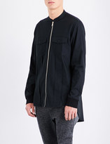 Balmain Zipped cotton shirt jacket
