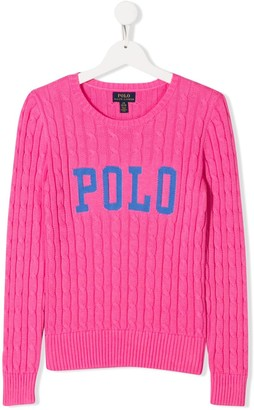 Ralph Lauren Kids TEEN Polo Cable-Knit jumper