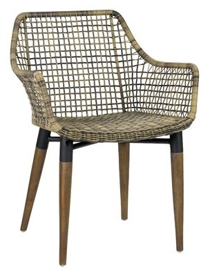 Bungalow Rose Hatmaker Patio Dining Chair Color: Brown