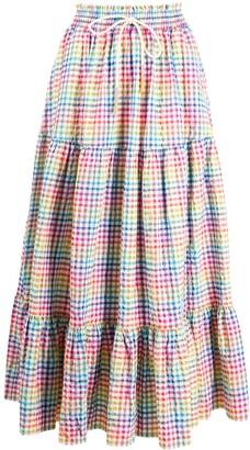 Mira Mikati Rainbow Check Skirt
