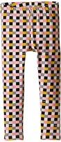 Fendi Checker Print Leggings Girl's Casual Pants