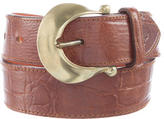 Mulberry Embossed Leather Belt