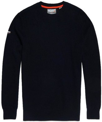 Superdry Academy Crew Knit Deep Navy - Large
