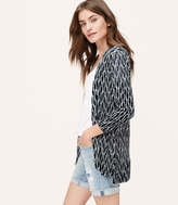 LOFT Ikat Sheer Open Cardigan