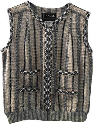 Chanel Beige Linen Knitwear