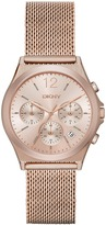 DKNY Parsons Stainless Steel Rose Gold Mesh Chrono Watch
