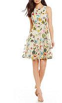 Gianni Bini Lana Floral Embroidered Swing Dress