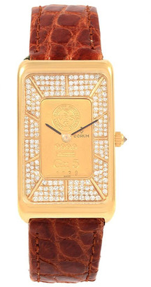 Corum Gold Diamonds And 18K Yellow Gold Ingot 999.9 Women's Wristwatch 21x35MM