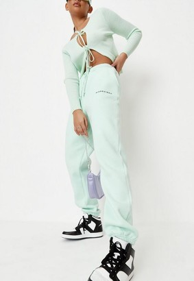Missguided Lime Oversized 90S Joggers