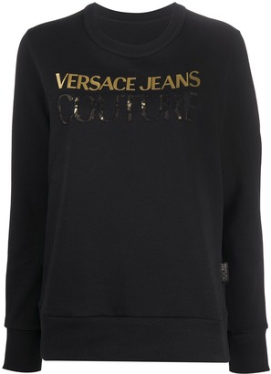 Versace Jeans Couture logo print long-sleeved T-shirt