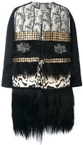 Antonio Marras oversize fur trim coat