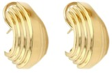 Tiffany & Co. 18k Yellow Gold Grooved Curved Style Huggie Earrings