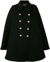 Roberto Cavalli buttoned cape - women - Polyester/Viscose/Virgin Wool - 40
