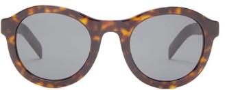 Prada Round Tortoiseshell-effect Acetate Sunglasses - Tortoiseshell
