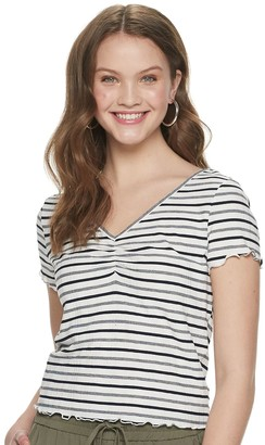 American Rag Juniors' V-neck Lace Back with Ribbon Tie