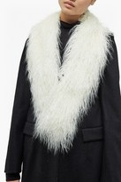French Connection Portia Faux Mongolian Fur Collar