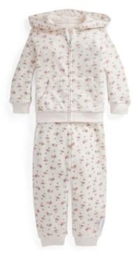 Polo Ralph Lauren Ralph Lauren Baby Girls Velour Hoodie & Pant Set