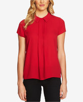 CeCe Collared Cap-Sleeve Blouse