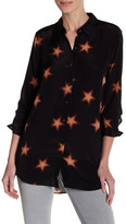 MiH Jeans Star Print Silk Blouse