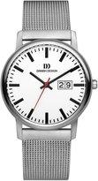 Danish Design Men's 38mm Silver-Tone Titanium Bracelet & Case Quartz Dial Analog Watch IQ62Q974