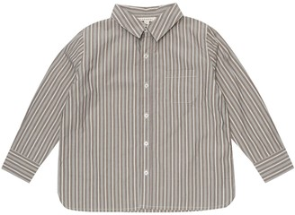 Caramel Stint striped cotton shirt