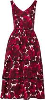Marc Jacobs Floral-print silk-faille midi dress