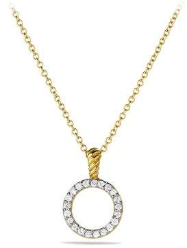 David Yurman Cable Collectibles Circle Pendant Necklace With Diamonds