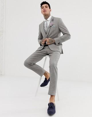 Harry Brown wedding wool blend slim fit summer tweed suit pants