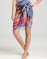 Tropical Paint Pareo Cover Up