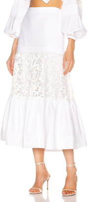 Alexis Gwenda Skirt in White   FWRD