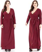 Simple and elegant Plus size dress for women knitting Solid color Casual long Elegant Evening dress