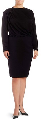 Alexia Admor Plus Long-Sleeve Sheath Dress