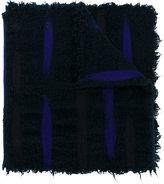 Faliero Sarti distressed colour contrast scarf