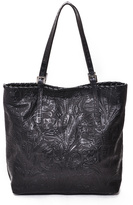 Carla Mancini Black Jess T. Tooled Leather Tote