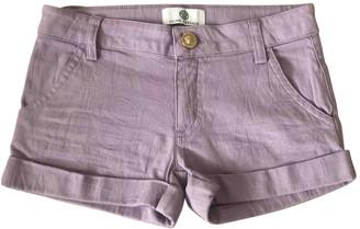 Versace Purple Cotton Shorts
