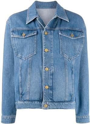 Chiara Ferragni logo embroidered denim jacket