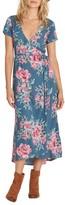 Billabong Women's Wrap Me Up Floral Print Wrap Dress