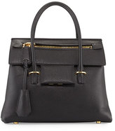 Tom Ford Icon Leather Small Satchel Bag, Black