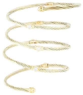 David Yurman 18K Diamond Cable Coil Bracelet