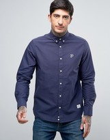 Penfield Porterville Oxford Shirt Buttondown Classic Regular Fit P Logo in Navy