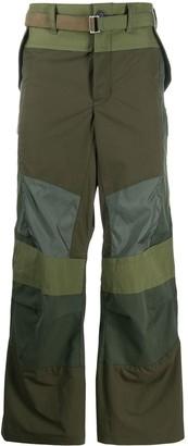 Sacai Fabric-Combo Wide Trousers