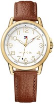 Tommy Hilfiger Sport Watch With Brown Leather Strap